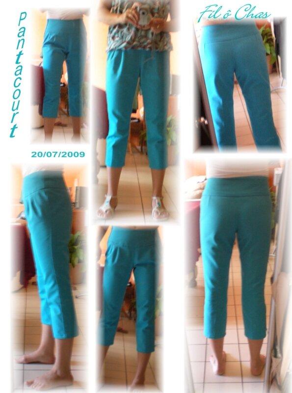 Pantacourt turquoise