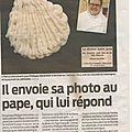 2015 - le pape françois écrit à l'un de nos auteurs