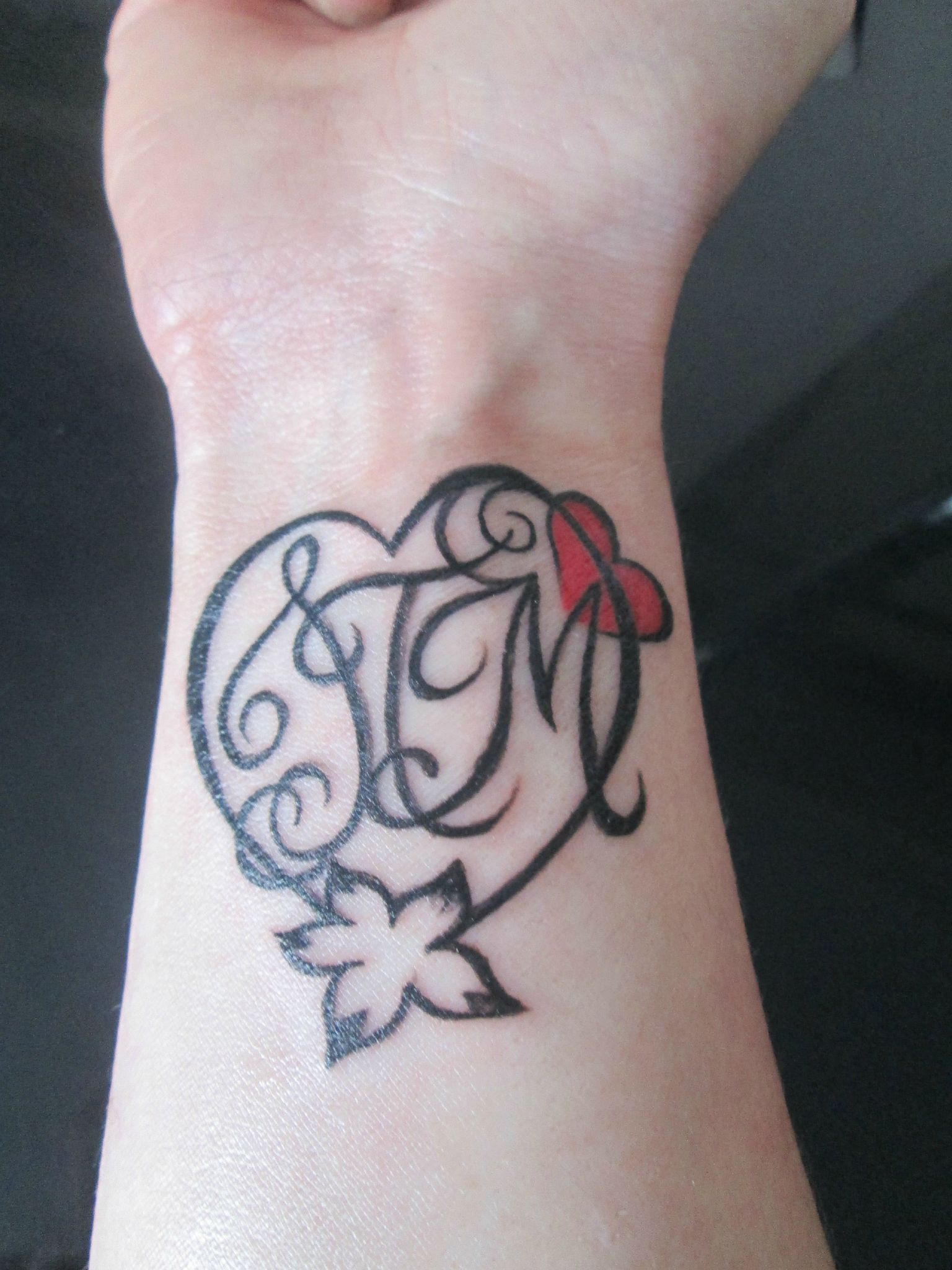 Mes cadeaux de f te des m res ca vous int resse - Tatouage coeur avec initiale ...