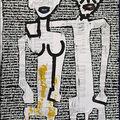 Couple 5.Technique mixte papier marouflé sur toile.2003.