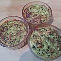 Flans de courgettes aux tomates séchées et pignons de pin