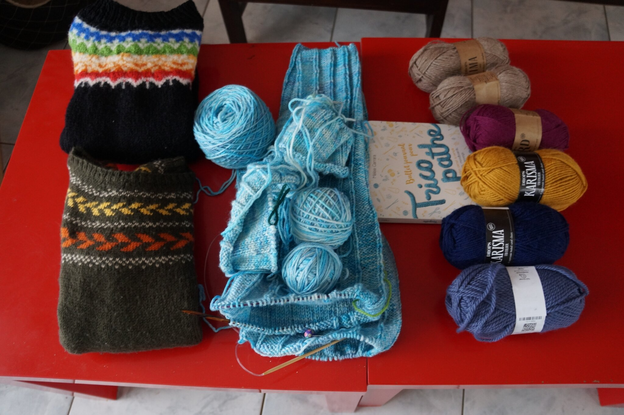 Résumé en images de mon quatrième épisode de podcast : que du tricot !!