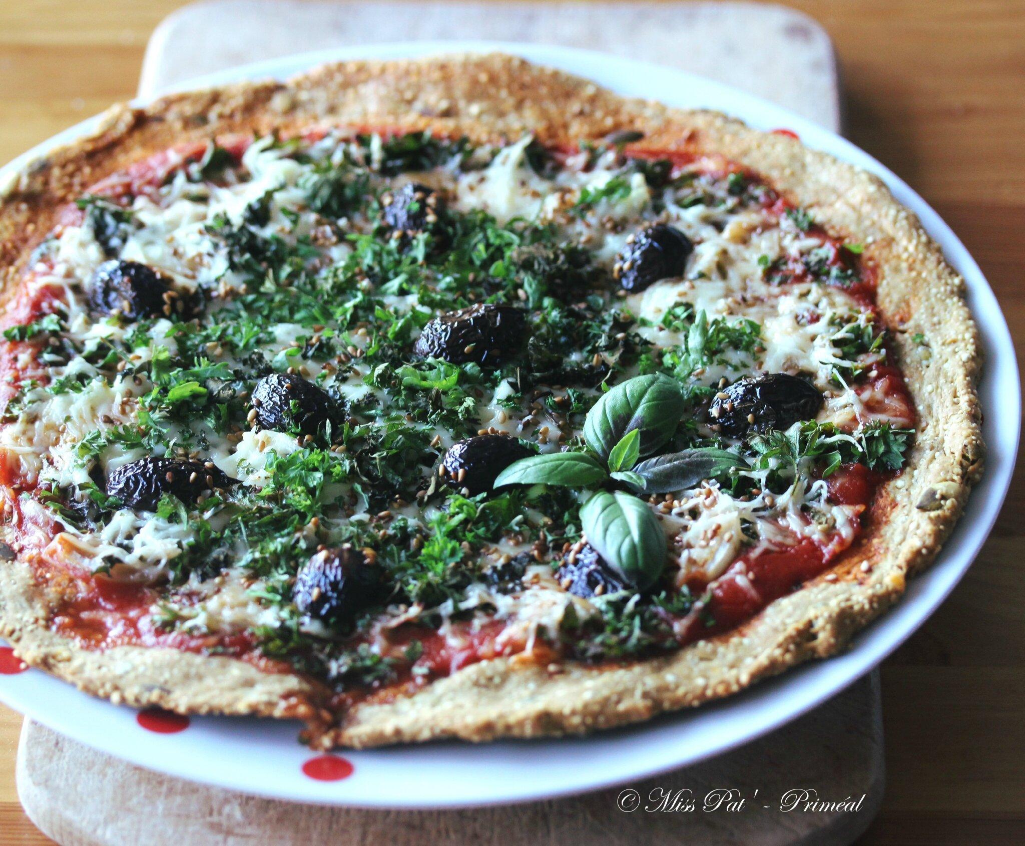 Pizza aux herbes et aux graines PRIMEAL