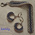Bracelet camus de cayotte et boucles d'oreilles
