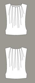 Named Patterns - Shane Pleated Top