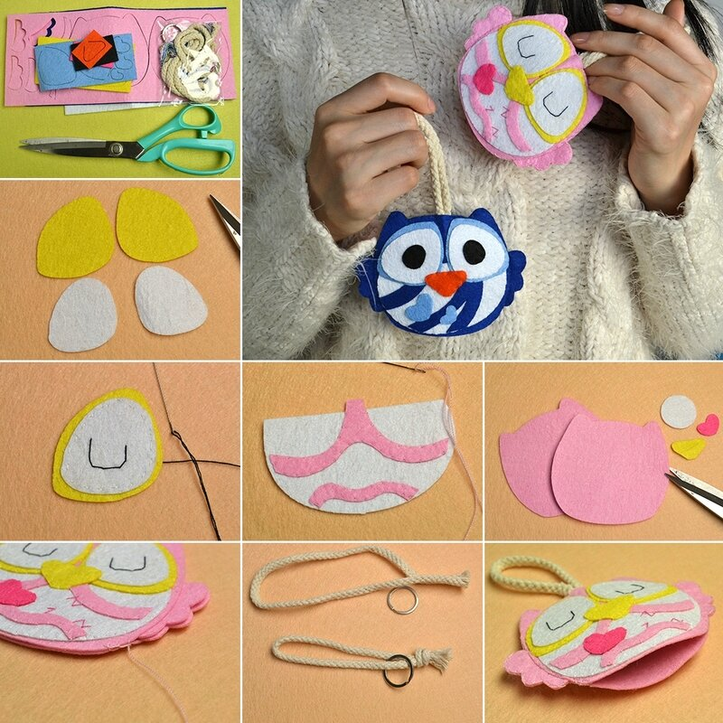 1080-Cute-Felt-Craft---Owl-Key-Covers-for-Boys-and-Girls