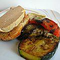 Apéro du week-end toasts au foie gras et légumes grillés