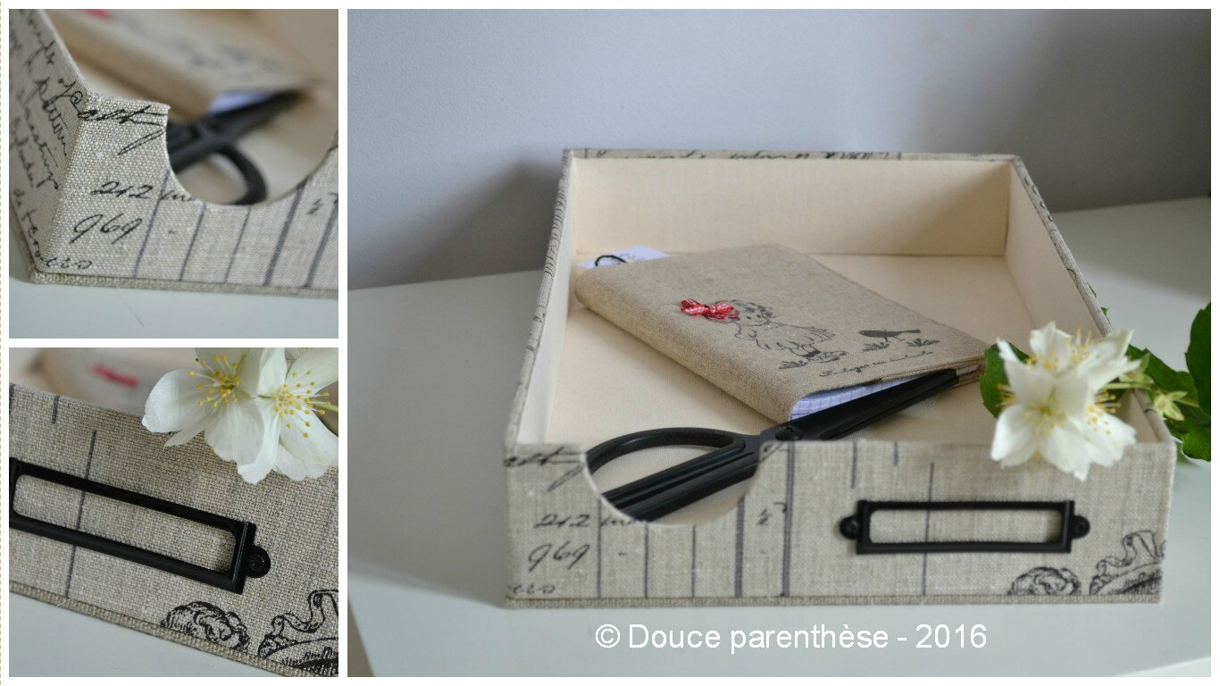 Collage corbeille courrier noire