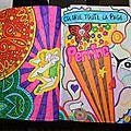 Saccage ce carnet - colorie toute la page