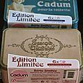 Cadum et ses jolies boîtes