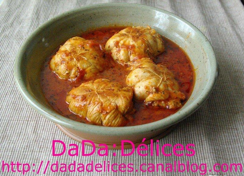 paupiettes de dinde, sauce tomate - dada:délices, le blog du bon