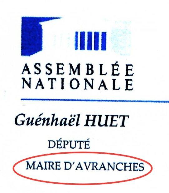 Huet député maire Avranches usurpation titre