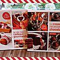 {jeu dedans ;) ! } je crée mes cadeaux gourmands et mes irrésistibles recettes au chocolat, 2 livres géniaux de marie chioca