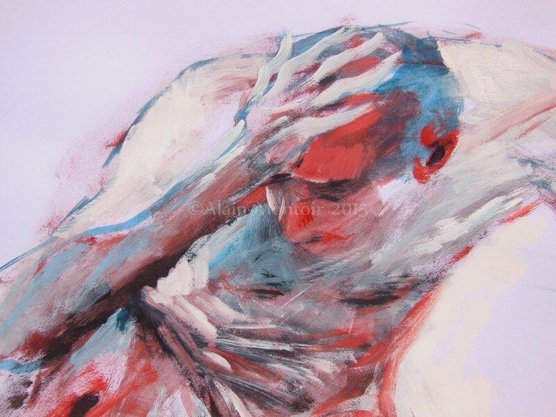 tableaux de nus homme dessin peinture (15)