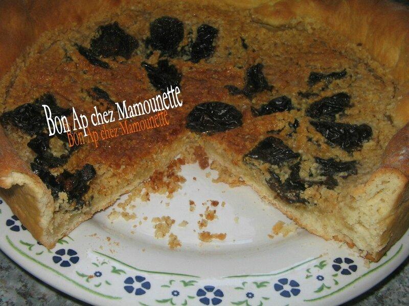 Tarte pâte sucrée maison aux pruneaux et poudre d'amande 022