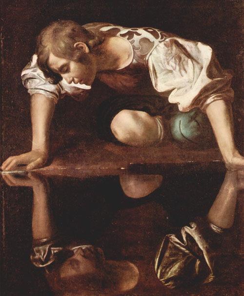 29. Le CARAVAGE, Narcisse, 1595.