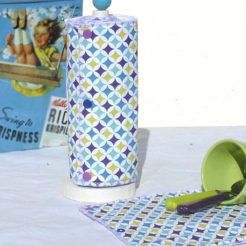 Essuie-tout lavable réutilisable écologique mamz'elle parisette Marguerite Retro pop