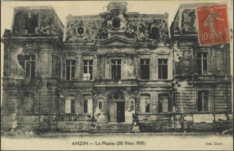 Anzin mairie 1918