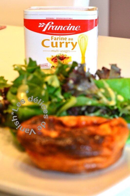 farine au curry francine, recette qui sans pâte, moule grand rond