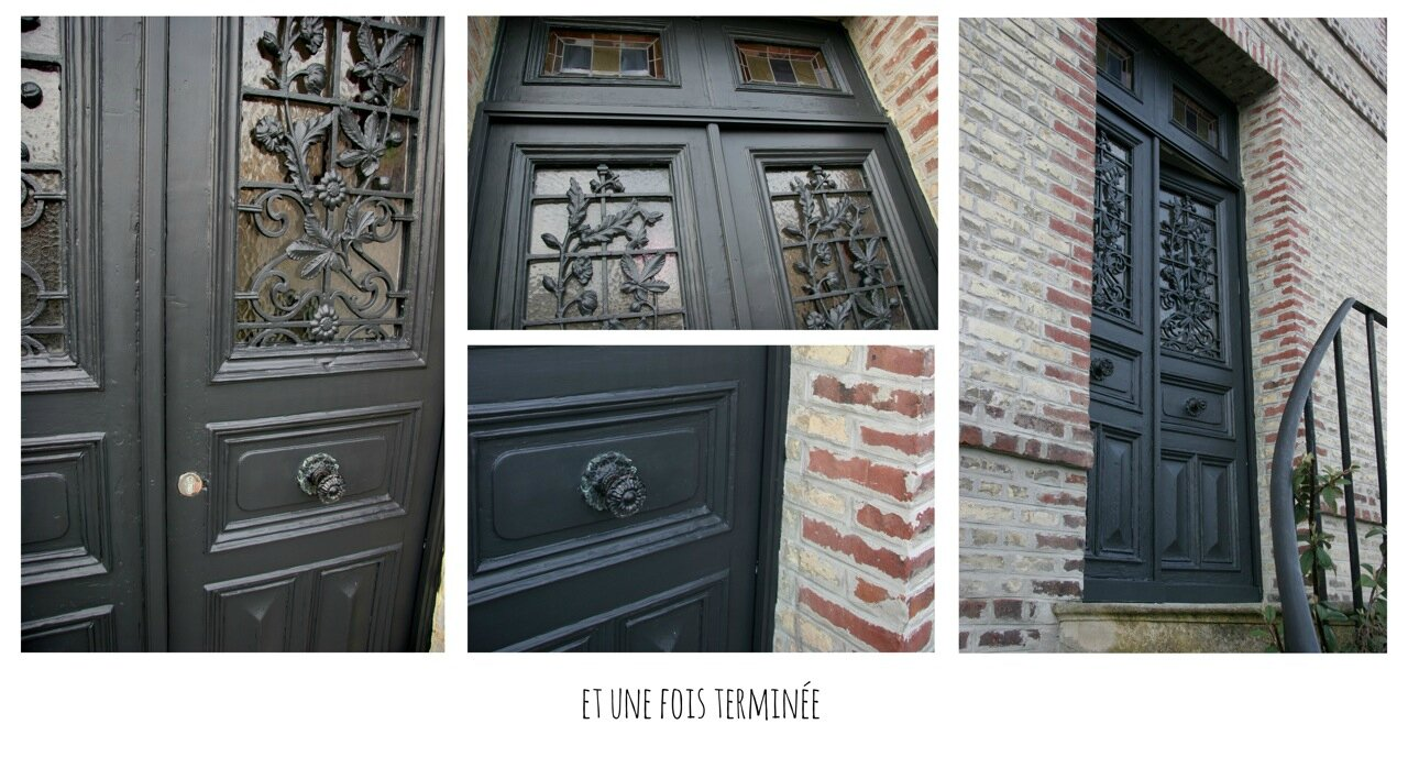 Off black pour ma porte d 39 entr e little clary for Peinture porte d entree