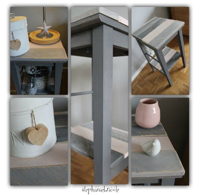 Diy d co r cup bois color vieilli et tabouret for La maison du tabouret