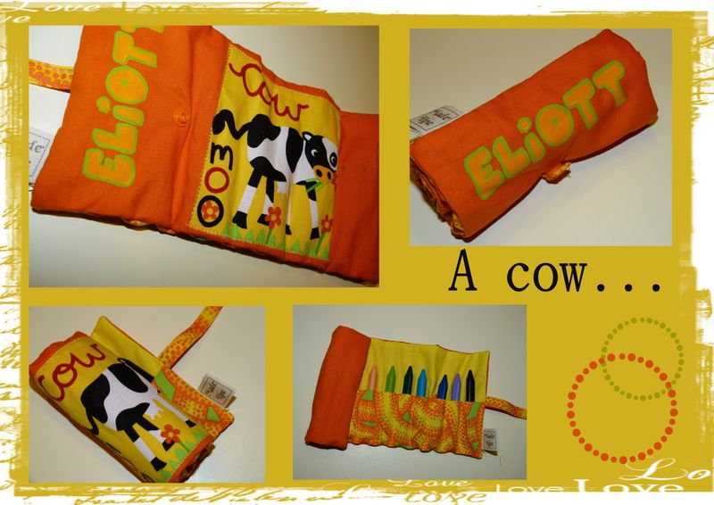 trousse à craie vache