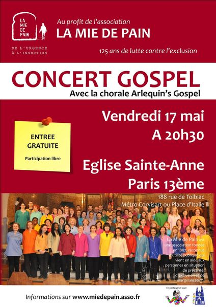 Affiche Concert Gospel - 17052013