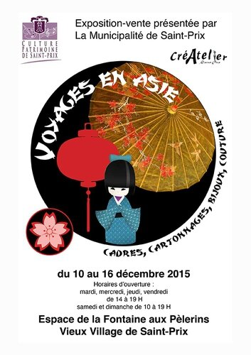 affiche expo Asie 2015