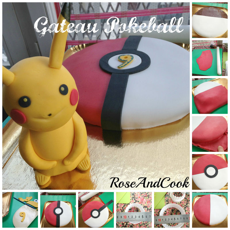 gateau pokeball anniversaire pokemon tuto en images rose cook. Black Bedroom Furniture Sets. Home Design Ideas