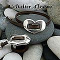 Je vous propose une parure bague et bracelet assortis réglable avec fermoir passant coulissant en forme de coeur ! sympa non ?!