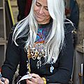 Karin Huet en dédicace aux Quat'Sardines