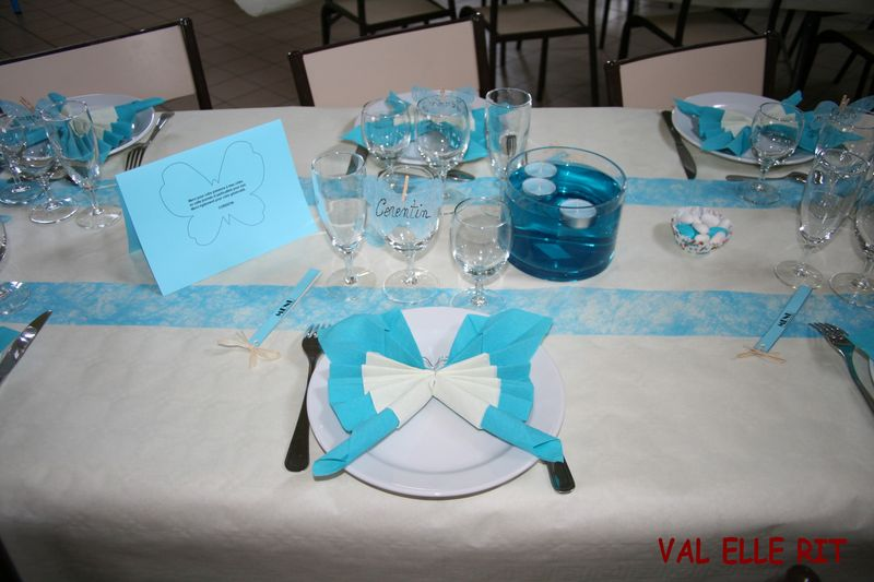 Deco de table de communion fin val elle rit - Decoration de table pour communion garcon ...
