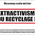 Code minier - des cartes de voeux pour nos députés!