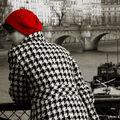 Pied de poule et bonnet rouge