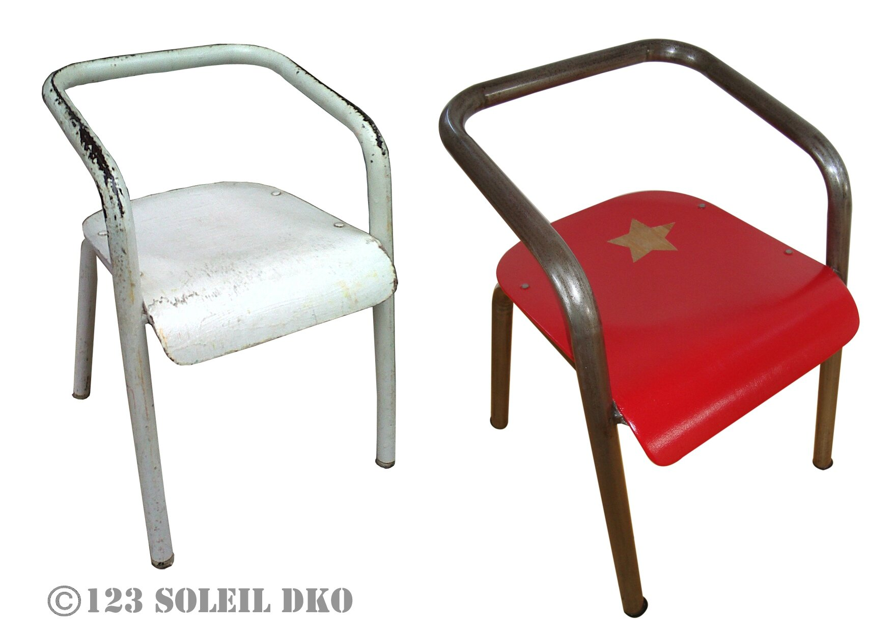 Chaise d'écolier style Hitier Gascoin