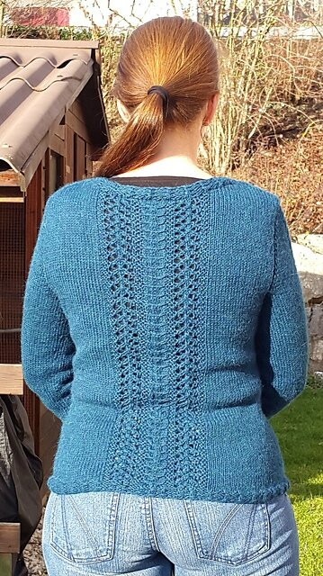 Cinnamon cardigan back