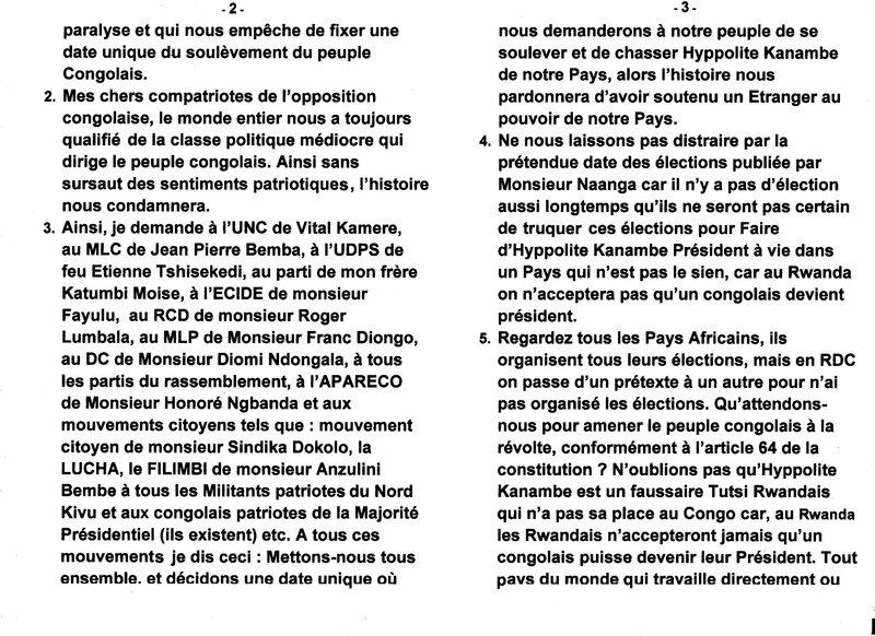 CHASSER HYPPOLITE KANAMBE DU POUVOIR AU CONGO KINSHASA b