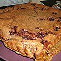 Clafoutis chocolat framboises