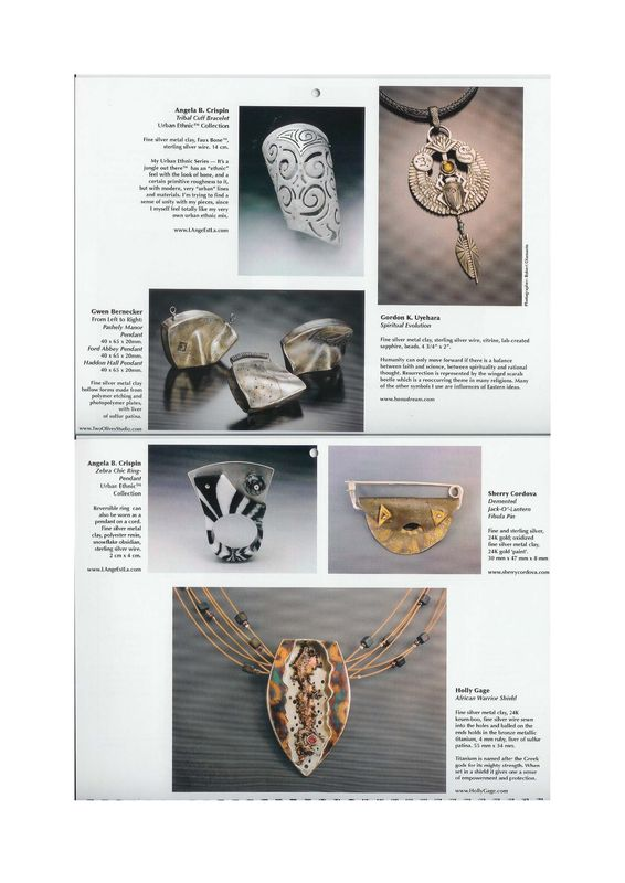 The Art and Design of Metal Clay - 2008 calendar by Holly Gage