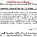 Fernand clauzel mort pour la france le 28 février 1915
