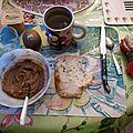 Petit -dejeuner sans gluten, sans lait: pâte a tartiner ricore