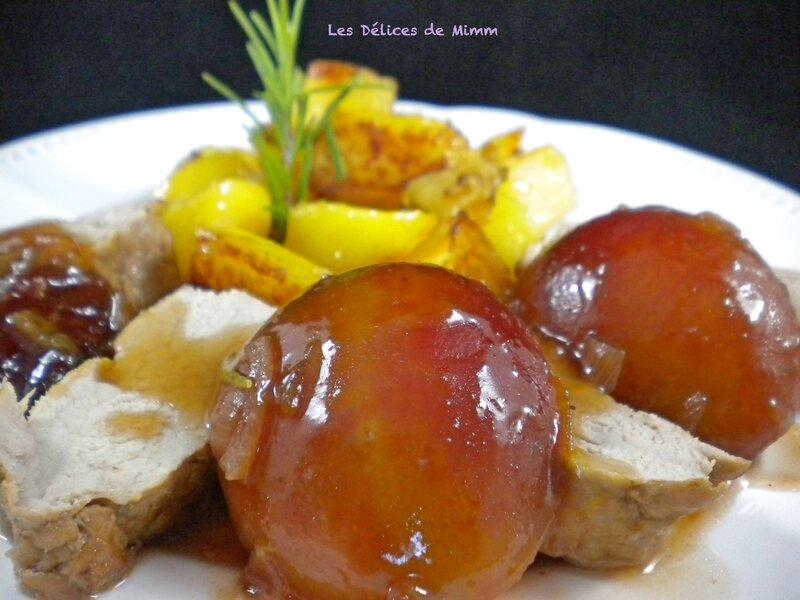 Filet mignon aux prunes, miel et romarin 2