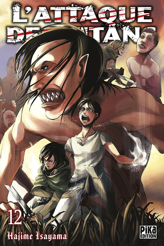 L'attaque des Titans Hajime Isayama Pika édition tome 12 shônen
