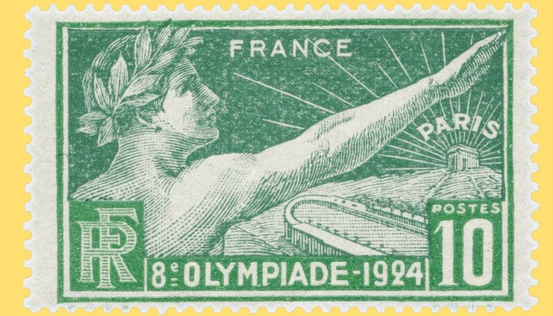 Timbre France 1924 serment Olympique