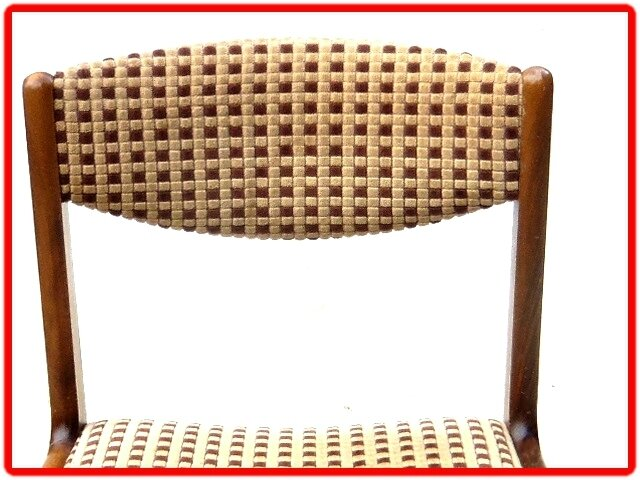 CHAISE DESIGN SCANDINAVE TECK 1950 / 1960