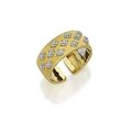 18 karat two-color gold and diamond cuff-bracelet, buccellati