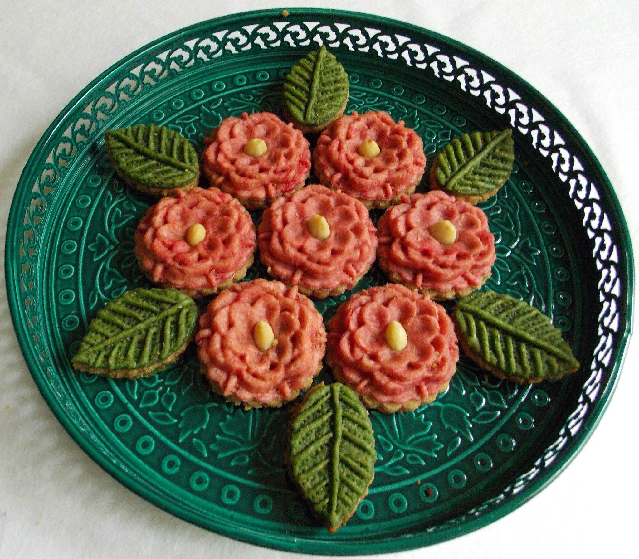 Bouquet de m'chkla fleurs & feuilles