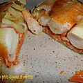 Brick aux légumes et aux crevettes