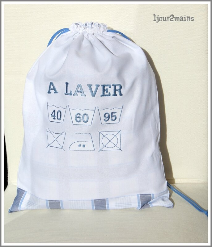 sac linge sale carreaux