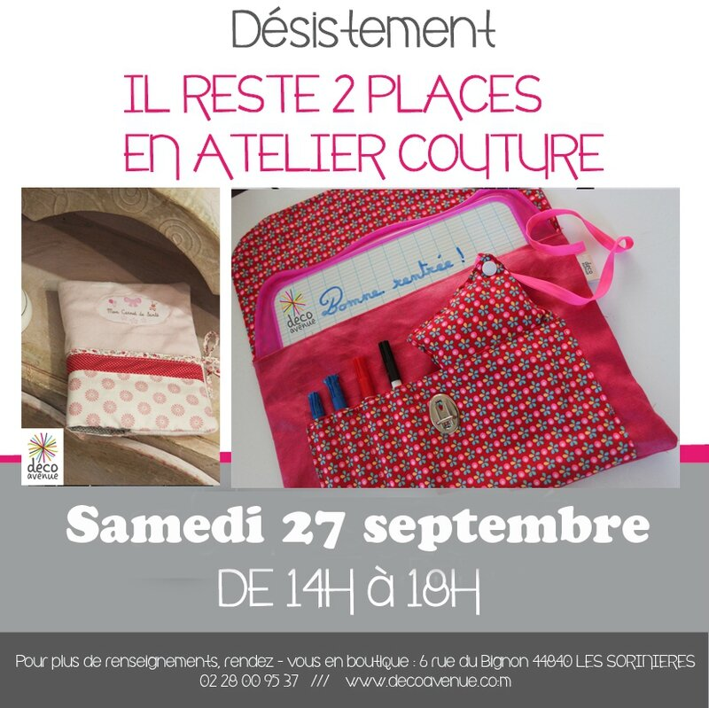 Desistement atelier couture decoavenue le blog for Atelier couture a nantes